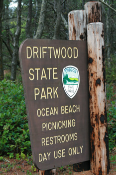 Drifwood State Park sign